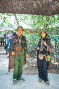 Hojimin city vietnam mar military uniforms from the vietna war at cu chi tunnels on march Stock Photo