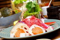 Hokkaido hot pot mutton platter Stock Images