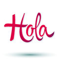 Hola - hello spanish text Stock Photo