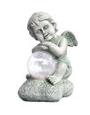 Hold the ball angel sculpture ornament Stock Photography
