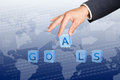 Hold  goals word buttons Royalty Free Stock Photo