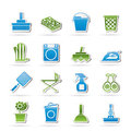 Hold objects and tools icons Stock Image