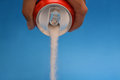 Hold a soda cane with high amount of sugar Royalty Free Stock Photo