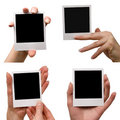 Holding blank photos Royalty Free Stock Photo