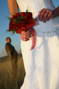 Holding Bouquet Royalty Free Stock Images