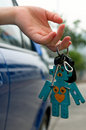 Holding car key Royalty Free Stock Photography