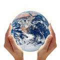 Holding Earth Royalty Free Stock Photos