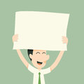 Holding paper businessman and smile Royalty Free Stock Image