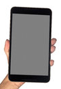 Holding a phablet Royalty Free Stock Photo