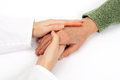 Holding senior hand care Royalty Free Stock Photo