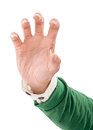 Holding something man s hand closeup image Royalty Free Stock Photography