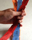 Holding Tickets Stock Photography