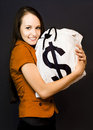 Holding On To Money Stock Photography