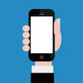 Holding up Smartphone Royalty Free Stock Photo