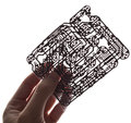 Holds in a hand a  circuit board Royalty Free Stock Photography