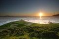 Hole 7, Pebble Beach golf links, CA Royalty Free Stock Photo