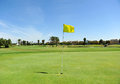 Hole on the golf course of Costa Ballena, Rota, Cadiz province, Spain Royalty Free Stock Photo