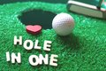 Hole in one golf Royalty Free Stock Photo