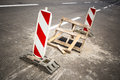 Hole in the road Royalty Free Stock Photo