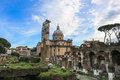 Holes imperial rome church the main monuments of the capital of italy Stock Photo