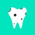 Holey white tooth icon