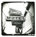 Holga_siesta-motel_sign Stock Images