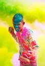 Holi celebrations in India. Royalty Free Stock Photos