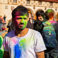 Holi celebrations kharkiv ukraine march on march in kharkiv ukraine celebrating the indian festival of colors and spring in Stock Photos