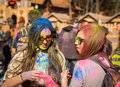 Holi celebrations kharkiv ukraine march on march in kharkiv ukraine celebrating the indian festival of colors and spring in Royalty Free Stock Photo
