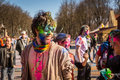 Holi celebrations kharkiv ukraine march on march in kharkiv ukraine celebrating the indian festival of colors and spring in Stock Photo