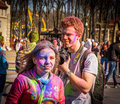 Holi celebrations kharkiv ukraine march on march in kharkiv ukraine celebrating the indian festival of colors and spring in Royalty Free Stock Photography