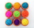 Holi colors colorful powder on the festive occassion of in india Royalty Free Stock Images