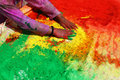 Holi festival of colors in india Stock Image