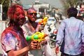 Holi Festival (Festival of Colors) in Nepal Royalty Free Stock Photos