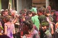 Holi Festival (Festival of Colors) in Nepal Stock Image