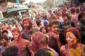Holi Festival (Festival of Colors) in Nepal Stock Images