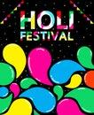 Holi festival vector design for international day.