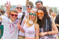 Holi gaudy festival stuttgart may th girls and boys on the in at Stock Photography