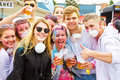 Holi gaudy festival stuttgart may th girls and boys on the in at Royalty Free Stock Photos