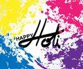 Holi spring festival of colors greeting  elements for card design Royalty Free Stock Photo