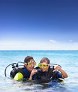 Holiday activity, scuba diving Royalty Free Stock Photo