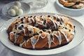 Holiday Almond Raisin Stollen Bread Royalty Free Stock Photo