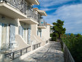 Holiday appartments in mediteranean during summer time Royalty Free Stock Image