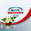 Holiday  background with bouquet of flowers  for Celebration of Mother's Day Royalty Free Stock Photo