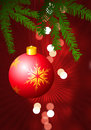 Holiday background with Christmas Ornament Stock Photos