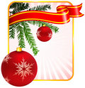 Holiday background with Christmas Ornament Royalty Free Stock Photography