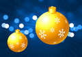 Holiday background with Christmas Ornaments Royalty Free Stock Images