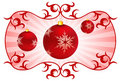 Holiday background with Christmas Ornaments Stock Image