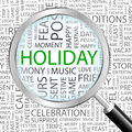 Holiday background concept wordcloud illustration print concept word cloud graphic collage Stock Photos