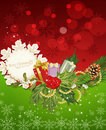 Holiday background, cones,gifts, holly Stock Photography
